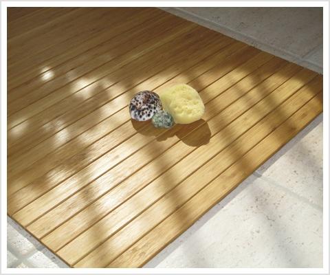 Bambus Fußboden Im Bad ~ Holz badvorleger flair bambus badematte relaxversand