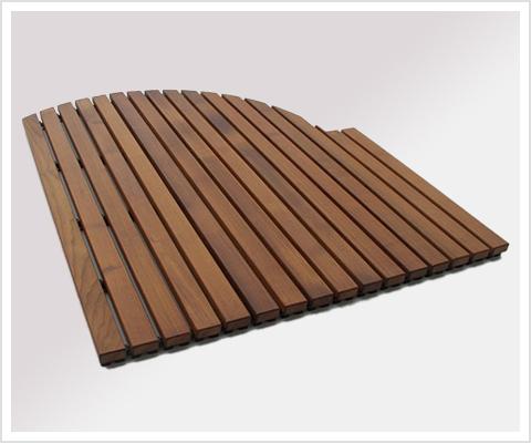 Holz Duschmatte Misdroy Thermoholz Relaxversand