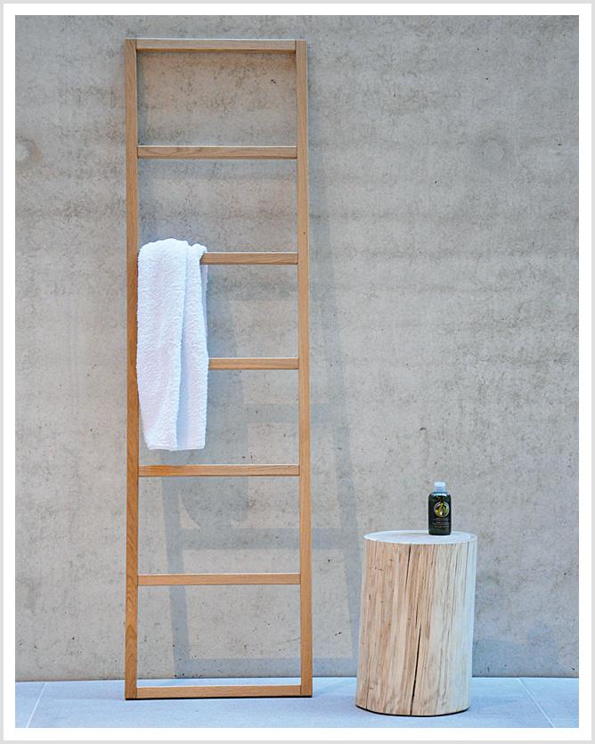 Holz Handtuchleiter Hipana Eiche Handtuchhalter