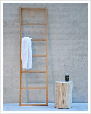 Holz-Handtuchleiter HIPANA Eiche Handtuchhalter | RelaXversand