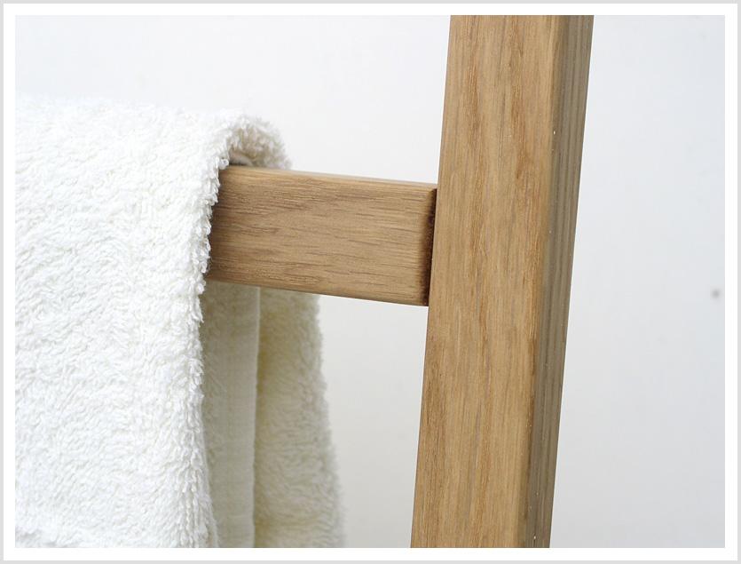 Holz Handtuchleiter Hipana Eiche Handtuchhalter Relaxversand