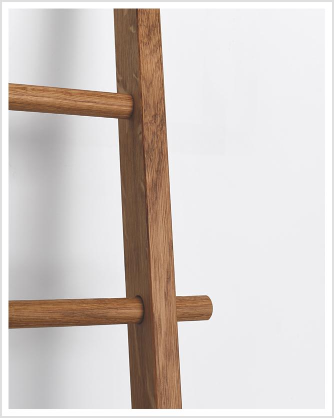 Holz Handtuchleiter Secara Eiche Cara Handtuchhalter