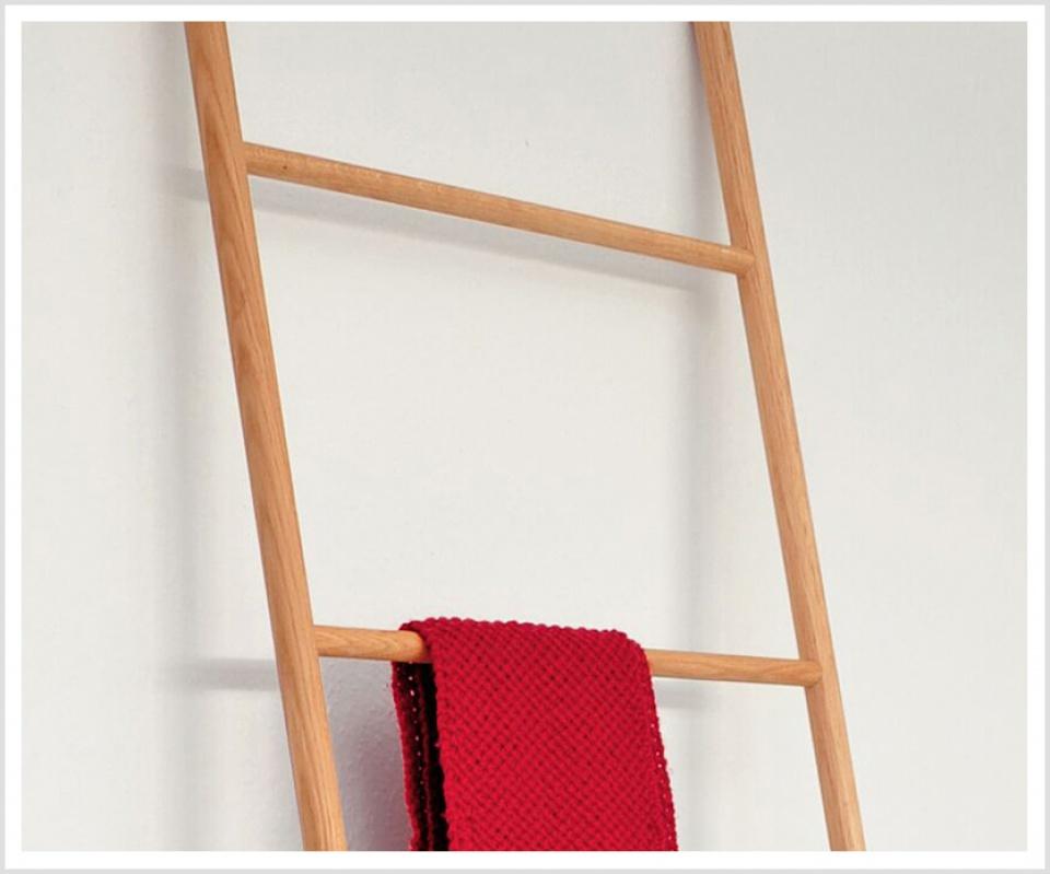 Holz Handtuchleiter MICADO Eiche Handtuchhalter